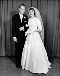 Wedding Photo Victor Togni and Margaret Togni 1958