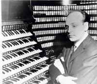 Victor Togni after recital on the Wanamaker Organ in Philadelphia (1964)