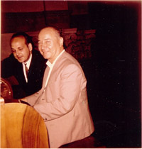 Victor Togni with Fernando Germani in Magadino, Switzerland