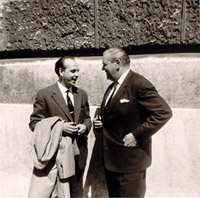 Victor Togni (left) with Jean-Jacques Grunenwald